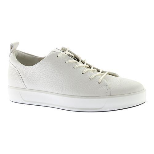 2901445b7514 Shop Men s ECCO Soft 8 Lace Up Sneaker White Cow Leather - Free Shipping  Today - Overstock - 18605387
