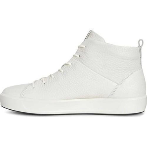 551361f53f ... Thumbnail Women's ECCO Soft 8 High Top White Cow Full Grain Leather