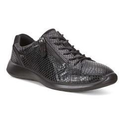 ECCO Soft 5 Zip Sneaker Black