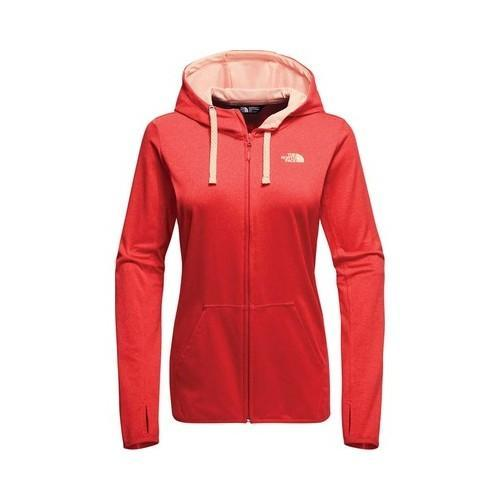 9d8fa3d06 Women's The North Face Fave Lite LFC Full Zip Hoodie Cayenne Red  Heather/Tropical Peach