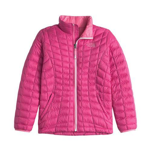 366db6c877a7 Shop Girls  The North Face Thermoball Full Zip Jacket Cabaret Pink ...