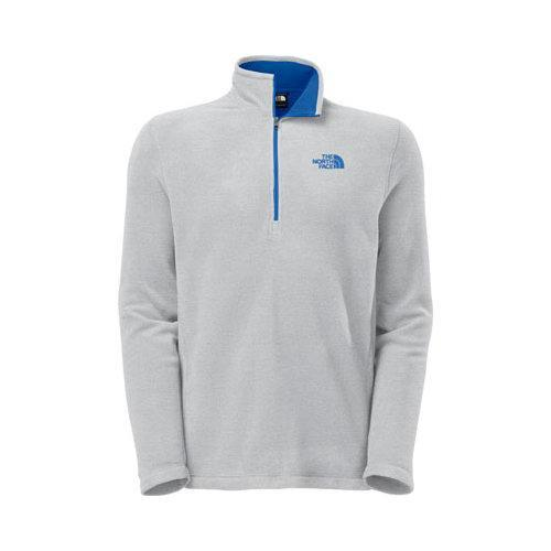 Shop Men s The North Face TKA 100 Glacier 1 4 Zip High Rise Grey Heather -  Free Shipping Today - Overstock - 18553137 c6a5e9ada