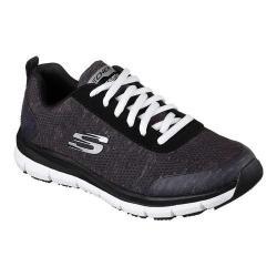 Women's Skechers Work Relaxed Fit Comfort Flex Pro HC SR Sneaker Black/White