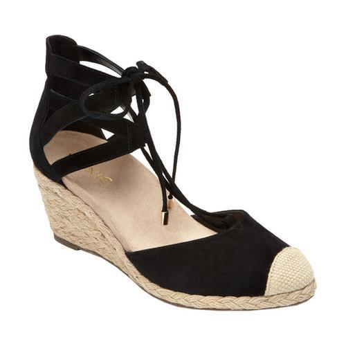 9d7d91a2198 Shop Women s Vionic with Orthaheel Technology Calypso Espadrille Wedge  Black - Free Shipping Today - Overstock - 18553159