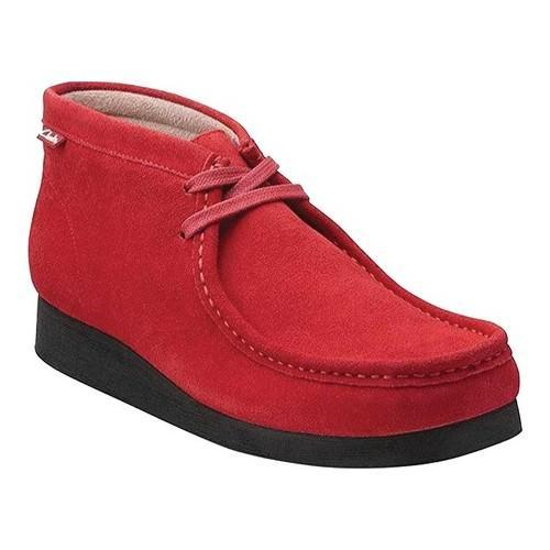 Clarks Wallabee Red Suede