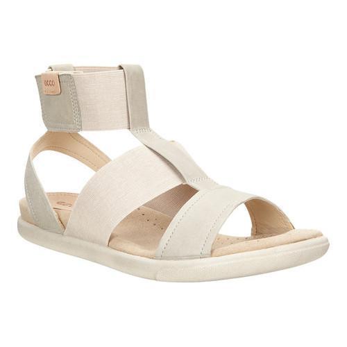 348959c029e Shop Women s ECCO Damara Ankle Strap Sandal Gravel Powder Cow Nubuck - Free  Shipping Today - Overstock - 18621360