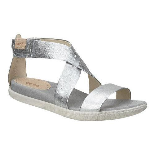 fac82dbd4d0 Shop Women s ECCO Damara Strap Sandal Alusilver Leather - Free Shipping  Today - Overstock - 18621368