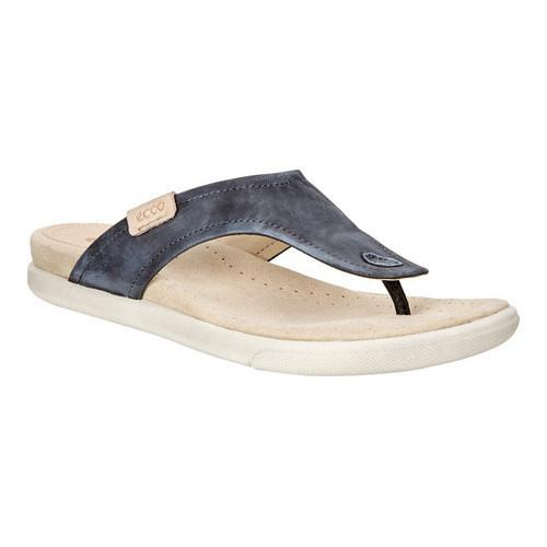 de43a0d00b6f Shop Women s ECCO Damara Thong Sandal Black Cow Nubuck - Free Shipping  Today - Overstock - 18621371