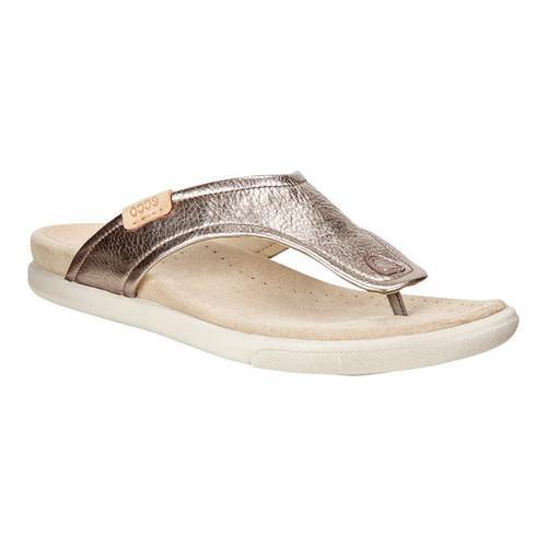 da5fd4d3839 Shop Women s ECCO Damara Thong Sandal Warm Grey Cow Leather - Free Shipping  Today - Overstock - 18621373