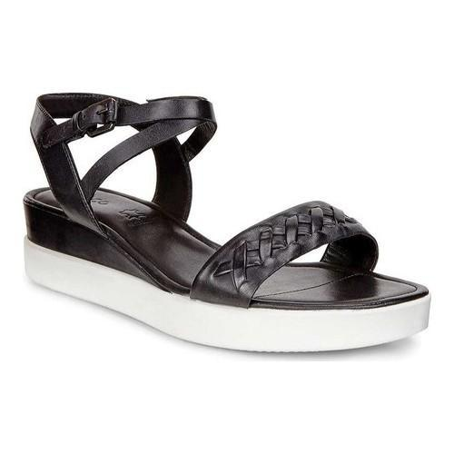 b5ee2cbf3 Shop Women s ECCO Touch Braided Plateau Ankle Strap Sandal Black Cow Nubuck  - Free Shipping Today - Overstock.com - 18621495