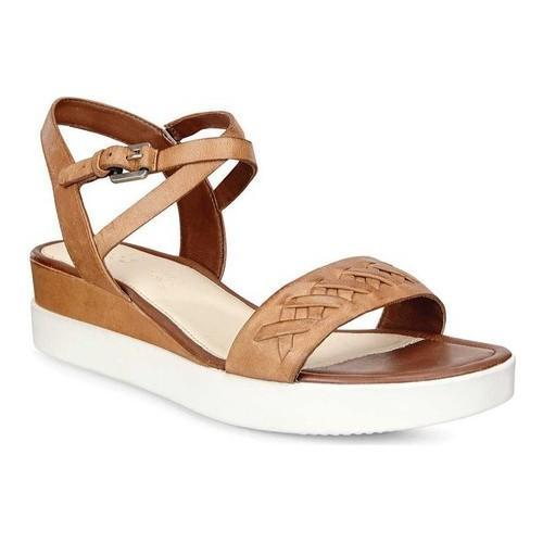 f4f01581c36e Shop Women s ECCO Touch Braided Plateau Ankle Strap Sandal Whisky Cow  Nubuck - Free Shipping Today - Overstock - 18621497