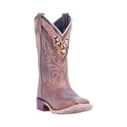 Women's Laredo Beko Broad Square Toe Cowgirl Boot 5653 Sand Distressed Leather