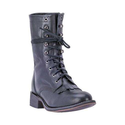 a5ef99f62517 Shop Women s Laredo Sara Rose Round Toe Combat Boot 52060 Black Leather -  Free Shipping Today - Overstock - 18621619