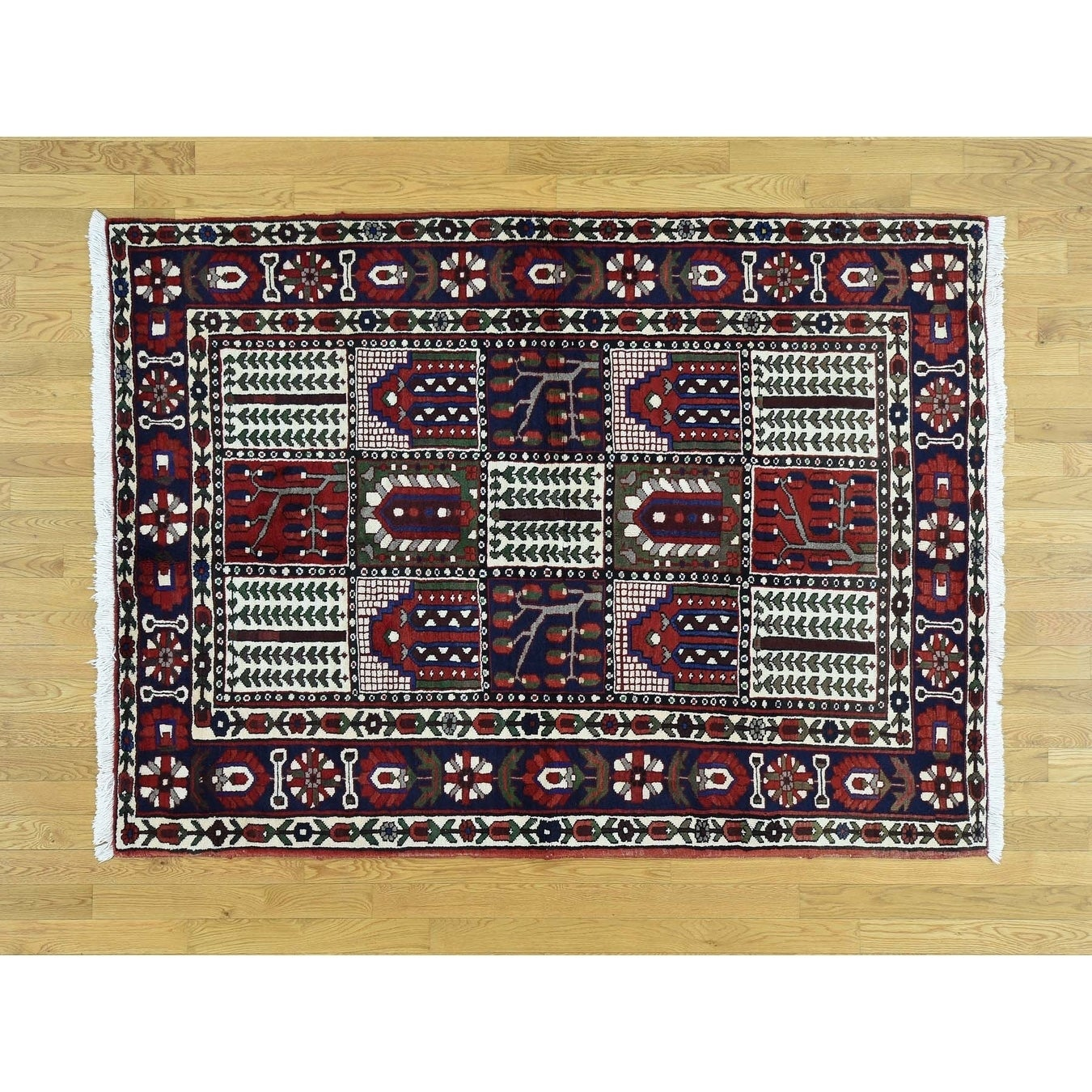 Hand Knotted Multicolored Persian with Wool Oriental Rug - 52 x 7