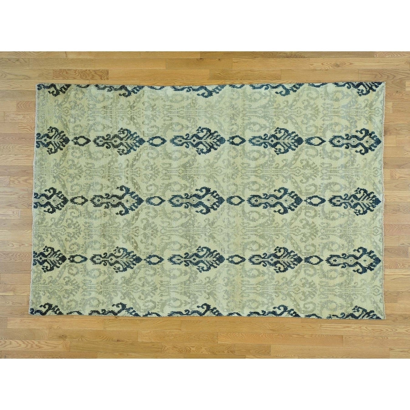 Hand Knotted Beige Clearance with Wool Oriental Rug - 510 x 87