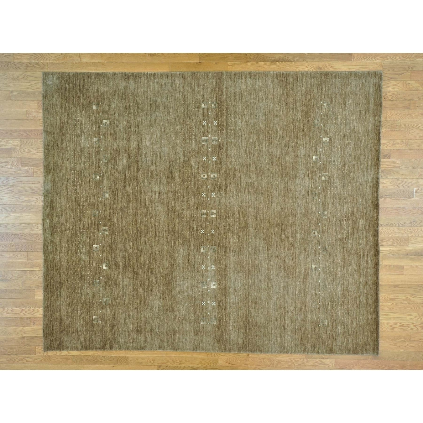 Hand Knotted Brown Modern & Contemporary with Wool Oriental Rug - 8 x 98