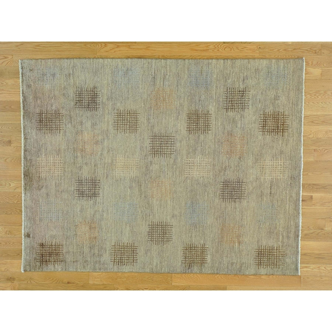 Hand Knotted Brown Modern & Contemporary with Wool Oriental Rug - 51 x 68