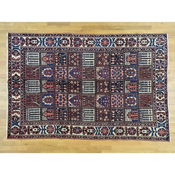 Hand Knotted Multicolored Persian with Wool Oriental Rug - 6'6 x 9'10