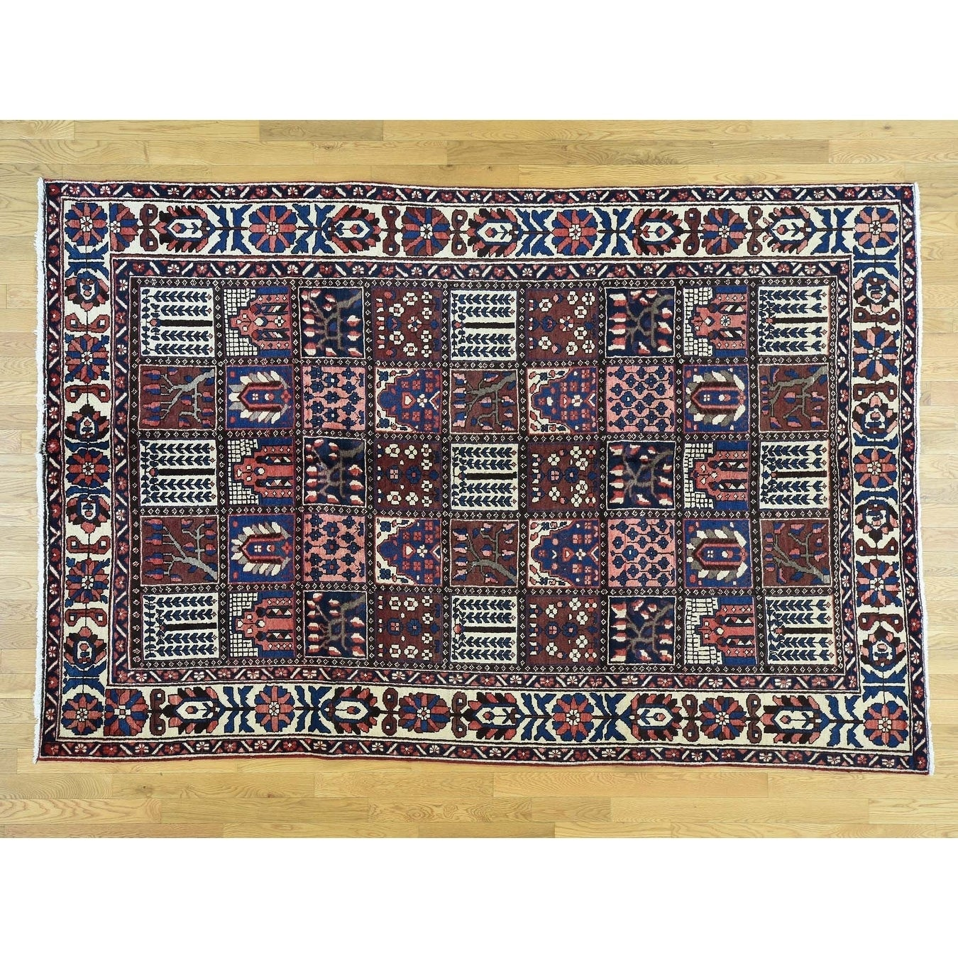 Hand Knotted Multicolored Persian with Wool Oriental Rug - 66 x 910