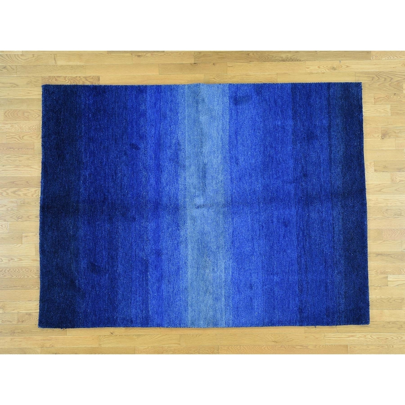 Hand Knotted Blue Clearance with Wool Oriental Rug - 6 x 79