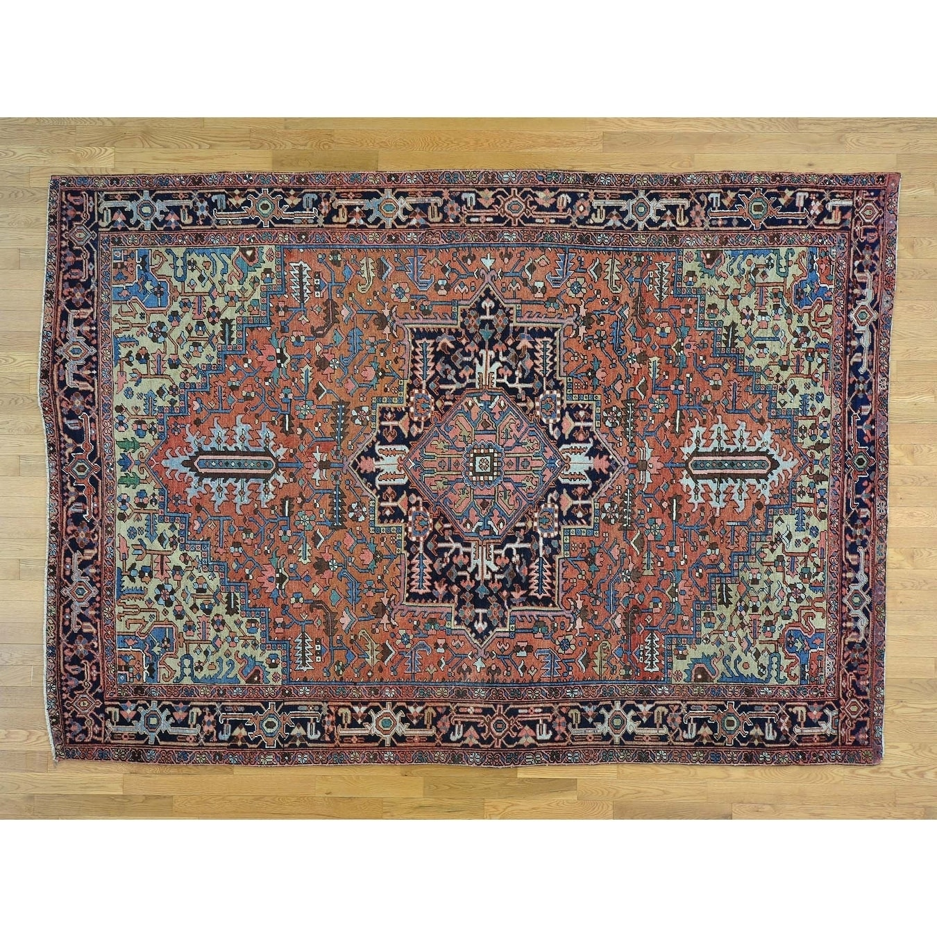 Hand Knotted Red Antique with Wool Oriental Rug - 71 x 102