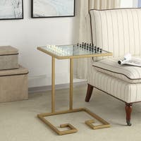 Manning Gold Glass Top Game Table