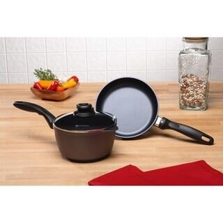 Swiss Diamond HD 3 Piece Set - Fry Pan and Saucepan