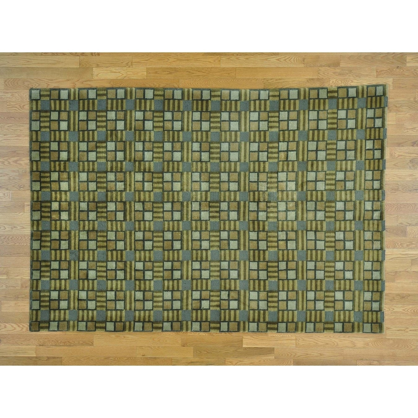 Hand Knotted Multicolored Clearance with Wool Oriental Rug - 6 x 89