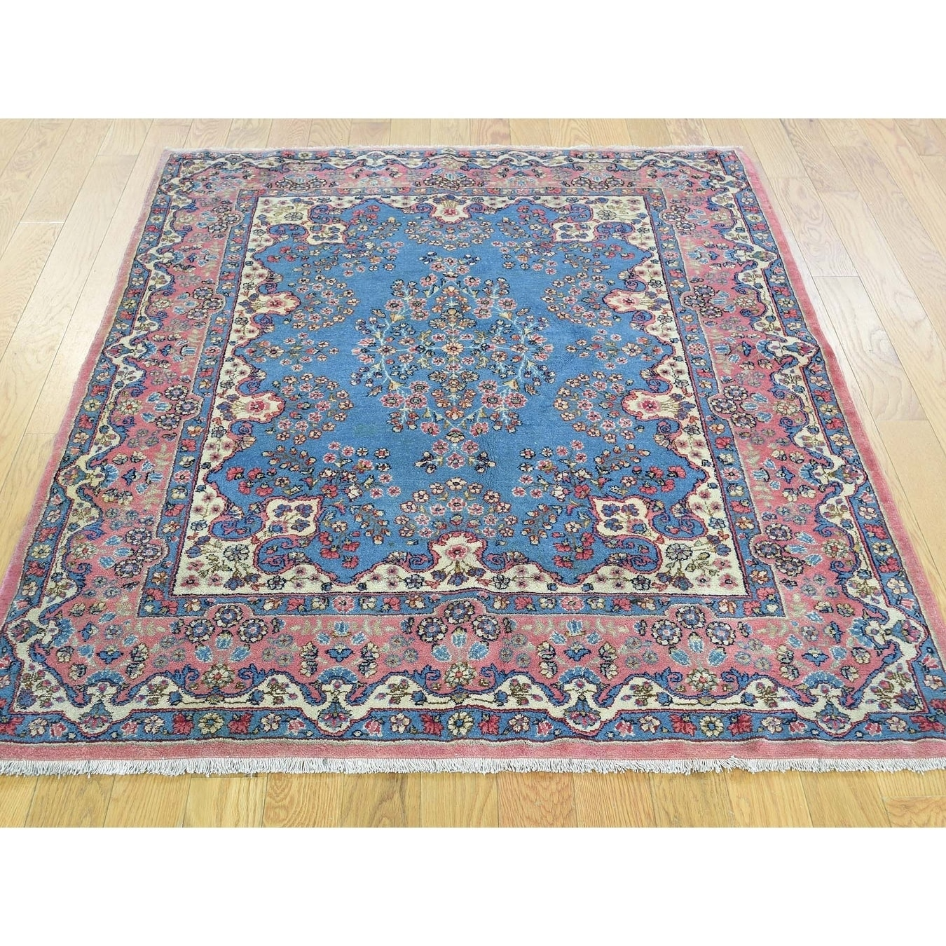 Hand Knotted Blue Antique with Wool Oriental Rug - 310 x 5