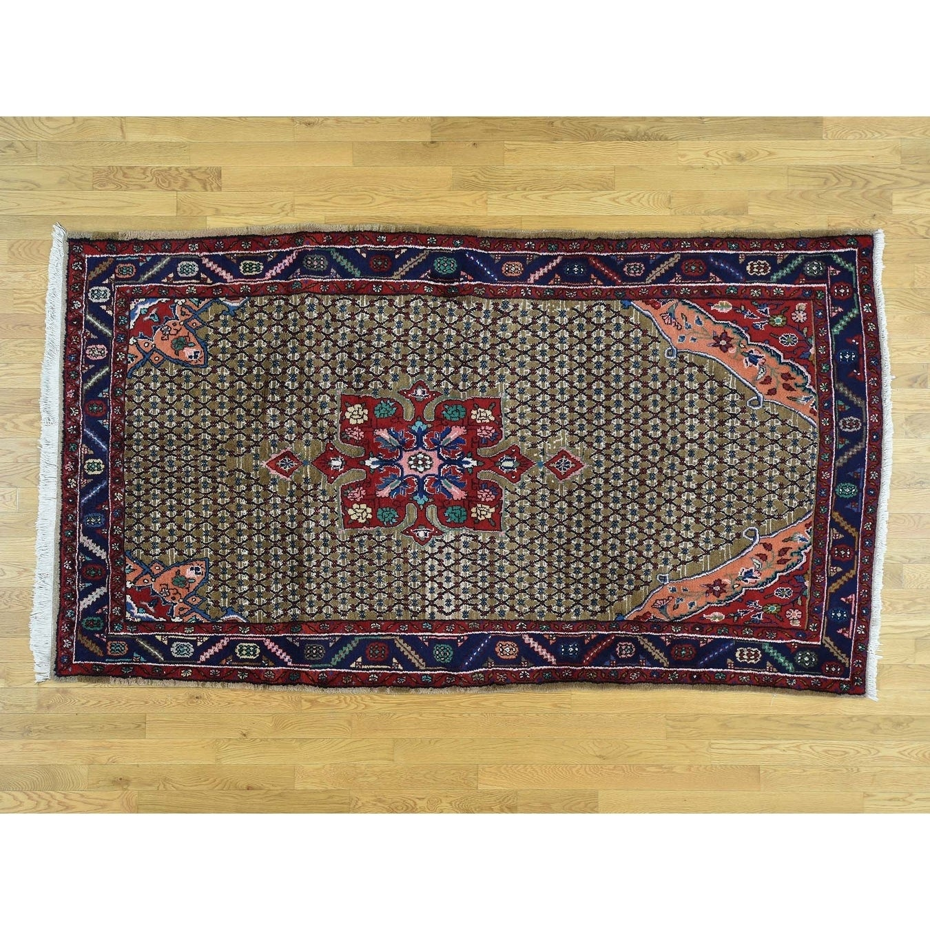 Hand Knotted Grey Clearance with Wool Oriental Rug - 5 x 810