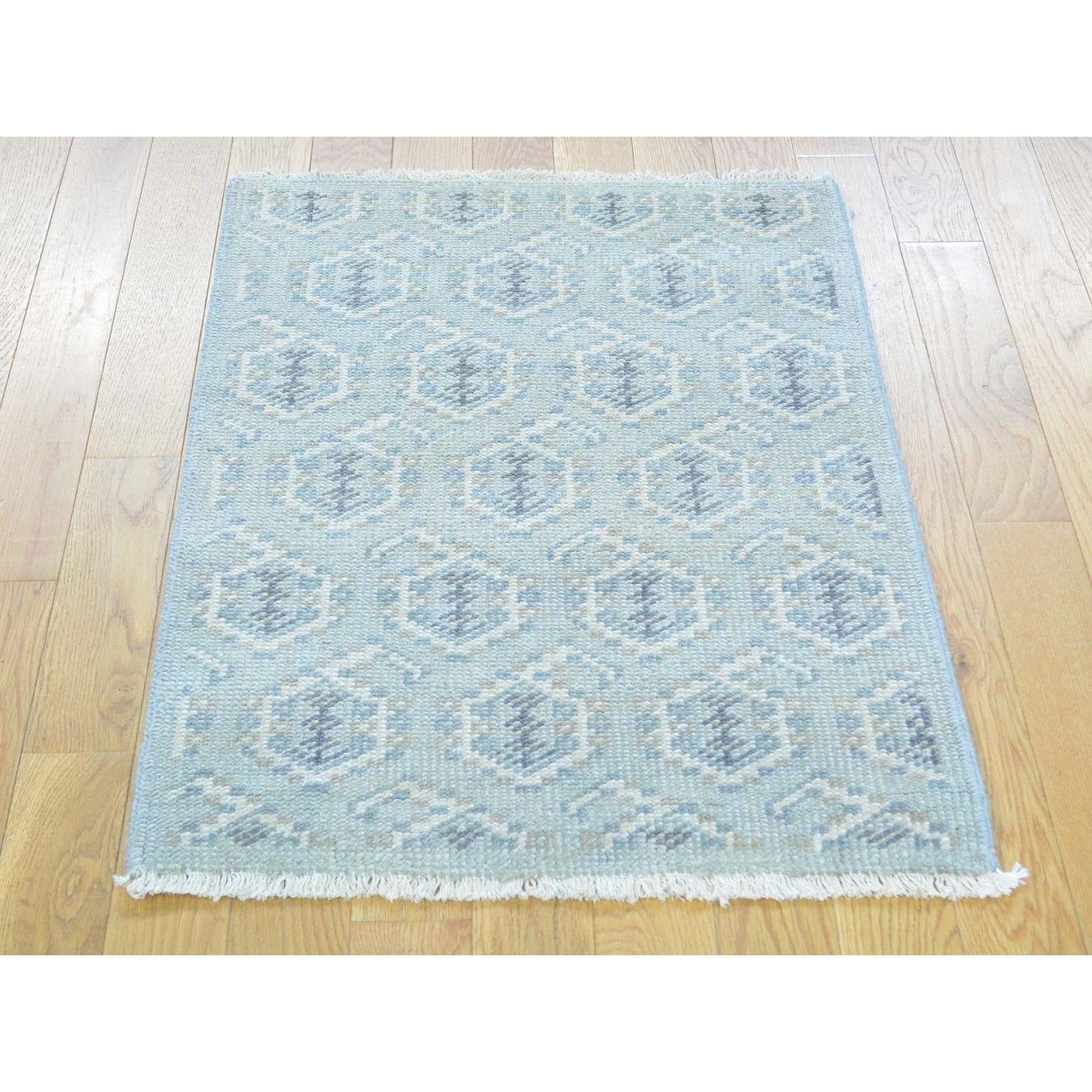 Hand Knotted Grey Oushak And Peshawar with Wool Oriental Rug - 2 x 3