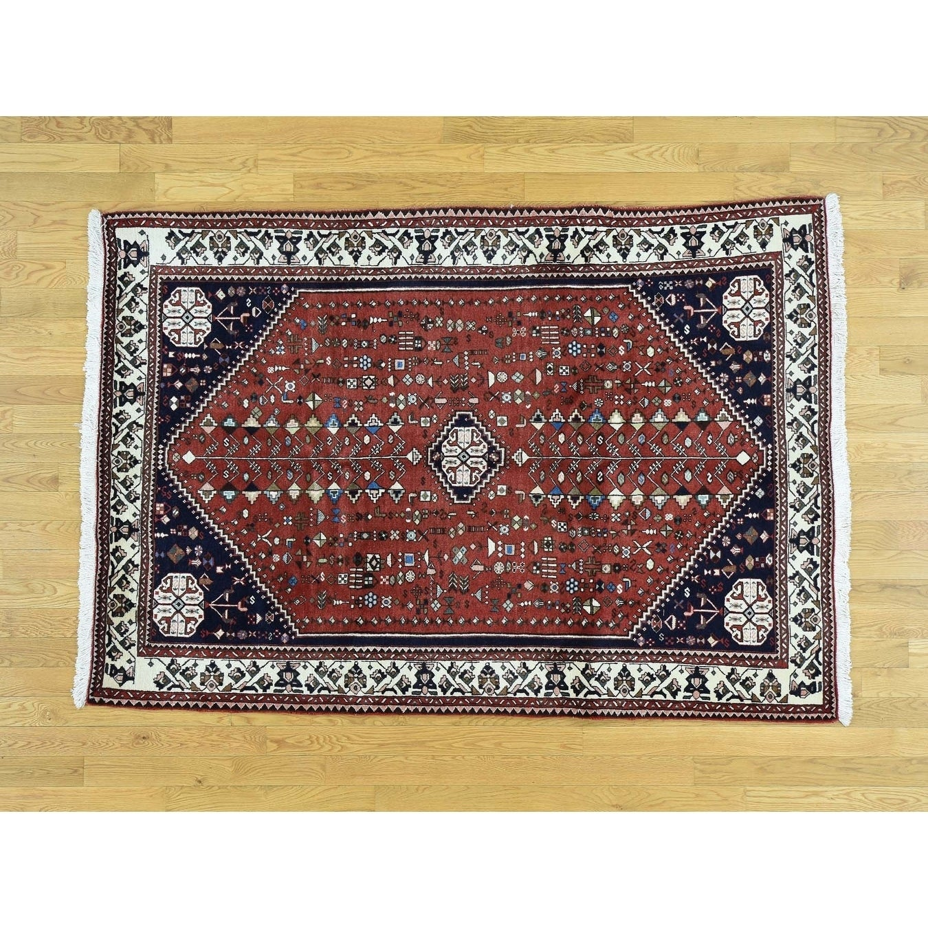 Hand Knotted Red Clearance with Wool Oriental Rug - 410 x 610
