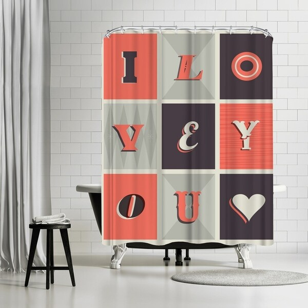 Shop Americanflat I Love You Harley Shower Curtain