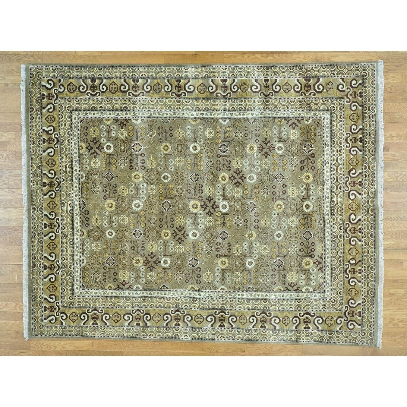 Hand Knotted Grey Clearance with Wool Oriental Rug - 710 x 10