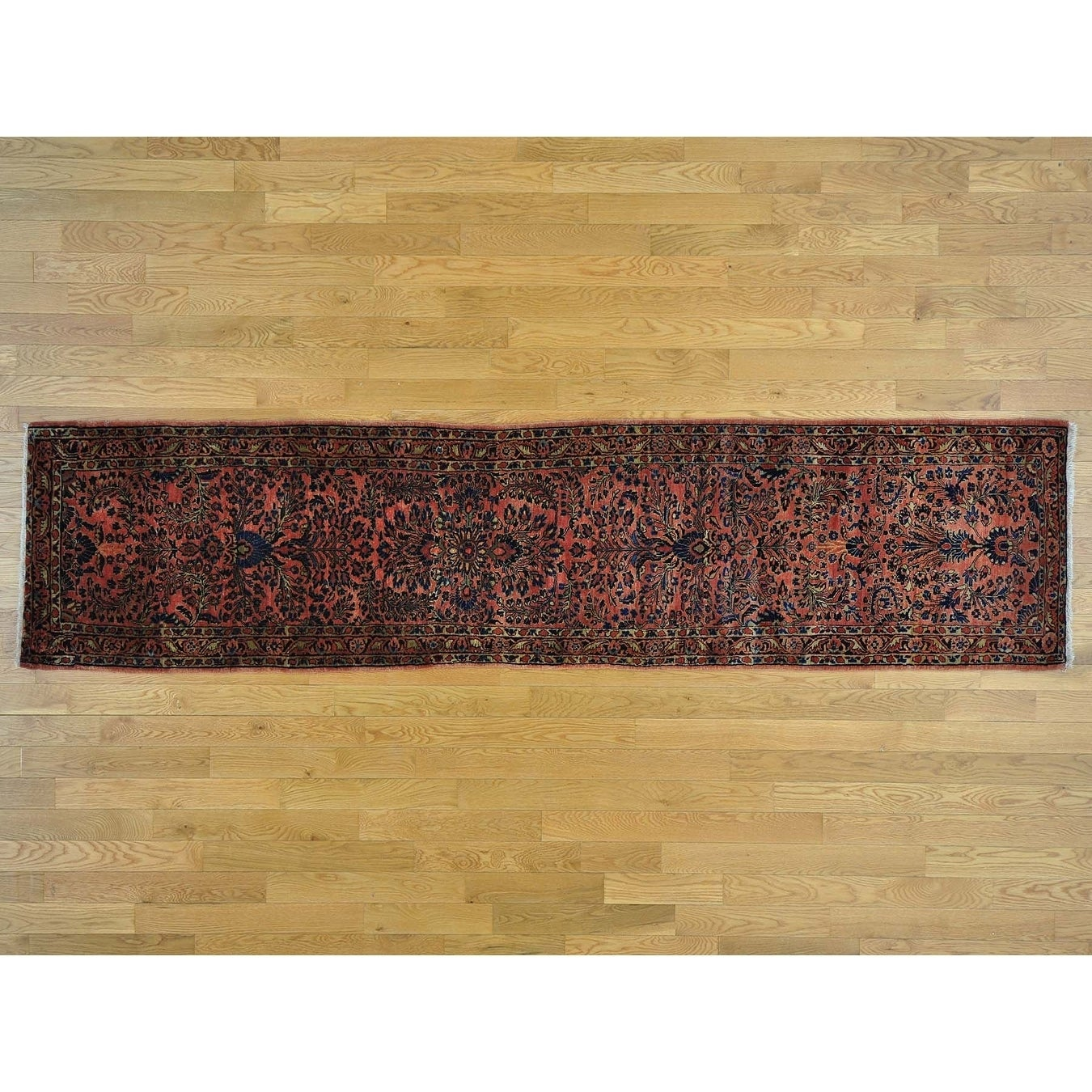 Hand Knotted Pink Antique with Wool Oriental Rug