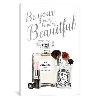 """iCanvas """"Be Your Own Kind Of Beauty Silver Makeup"""" by Amanda Greenwood Canvas Print"""