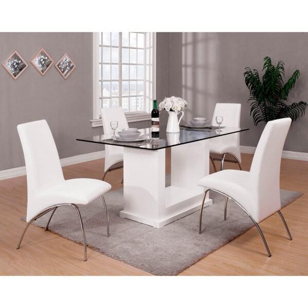 Shop Furniture Of America Grant Contemporary White Glass