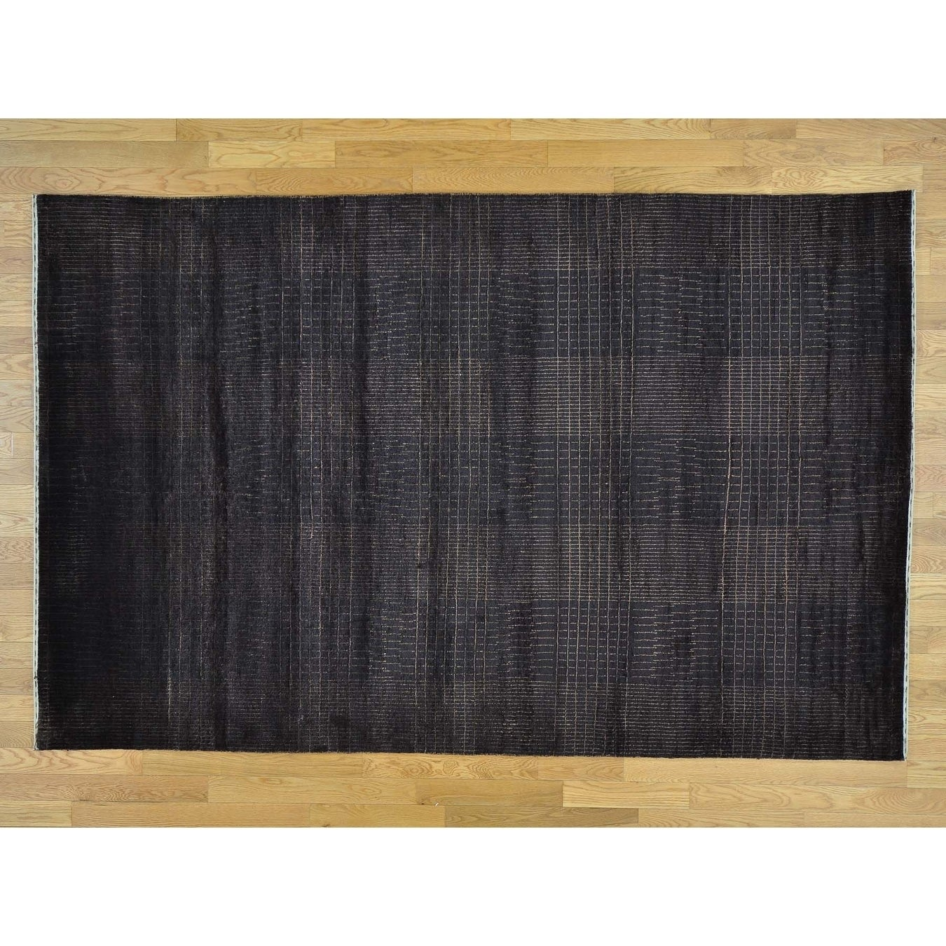 Hand Knotted Black Clearance with Wool & Silk Oriental Rug - 58 x 810