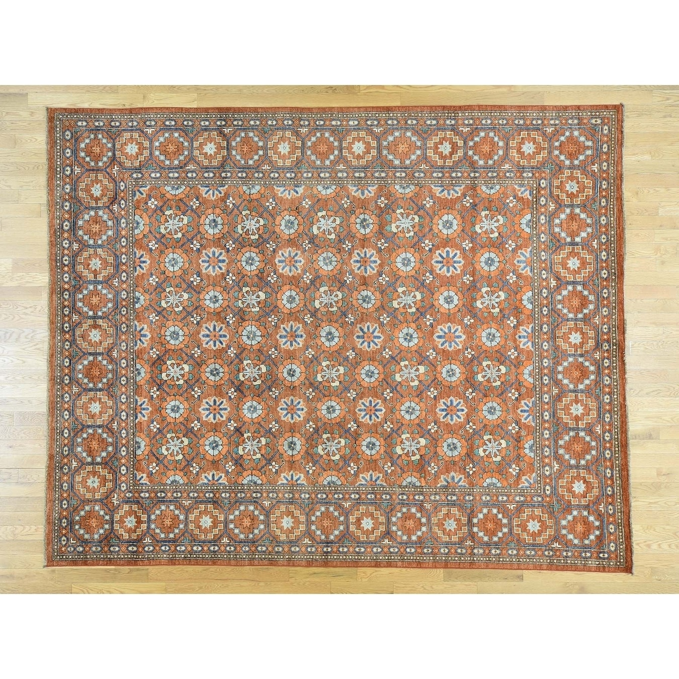 Hand Knotted Red Tribal & Geometric with Wool Oriental Rug