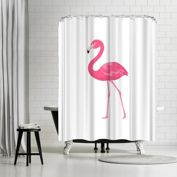 Shop Americanflat Pink Flamingo Shower Curtain
