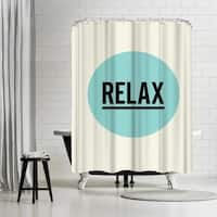 Americanflat 'Relax' Shower Curtain