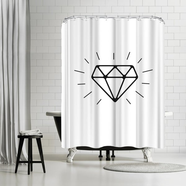 Shop Americanflat Diamond Shower Curtain