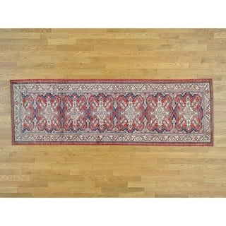 Hand Knotted Red Kazak with Wool Oriental Rug