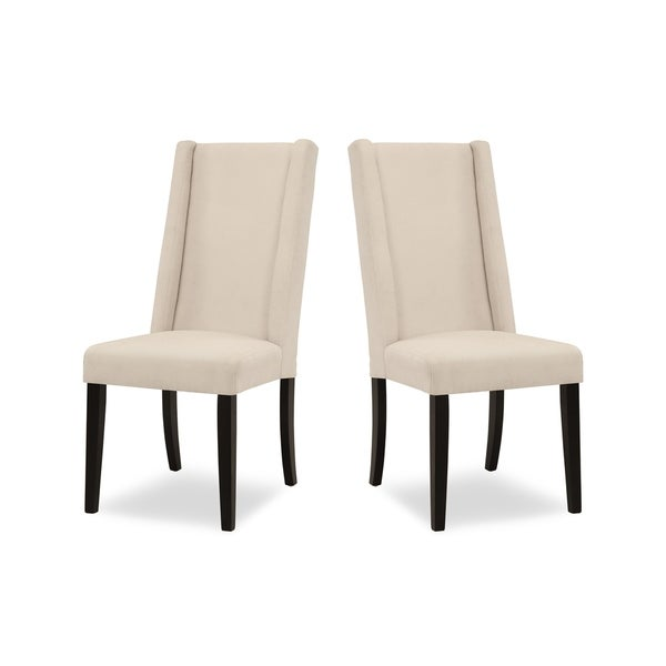 Sienna Tall Wing-back Upholstered Dining Chair 2-Pack