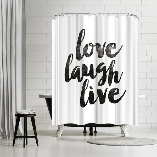 Americanflat Love Laugh Live 2 Shower Curtain