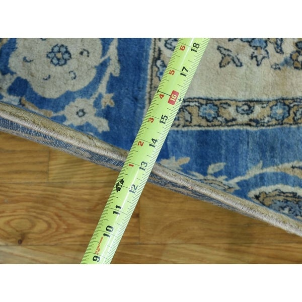 Hand Knotted Beige Antique with Wool Oriental Rug - 5'10 x 7'9