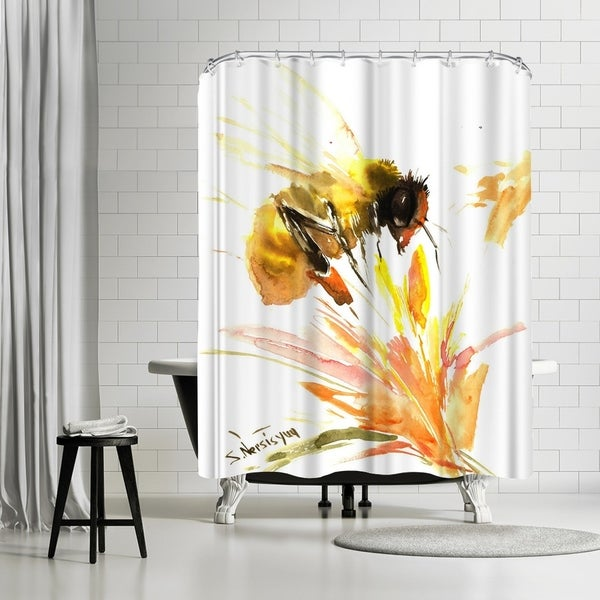 Shop Americanflat Bee Shower Curtain