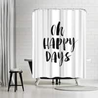 Americanflat 'Oh Happy Days' Shower Curtain