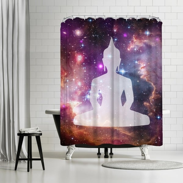 Shop Americanflat Galaxy Buddha Shower Curtain