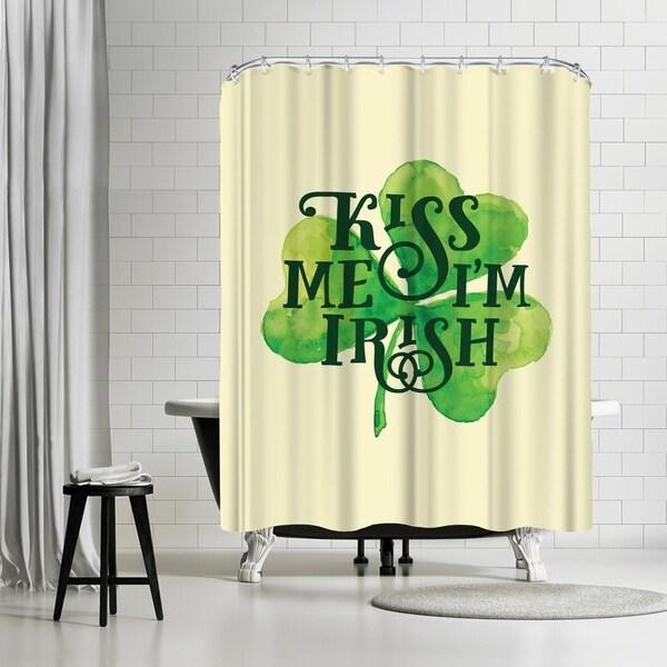Americanflat Kiss Me I M Irish Shower Curtain
